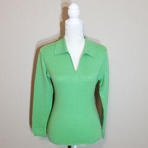 Charter Club Tops - CHARTER CLUB - Cashmere Green Top